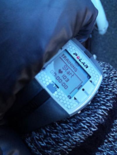 Polar (ポラール) FT4のスタート時の画面