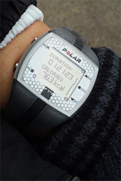 Polar (ポラール) FT4/トータルタイムと消費カロリー