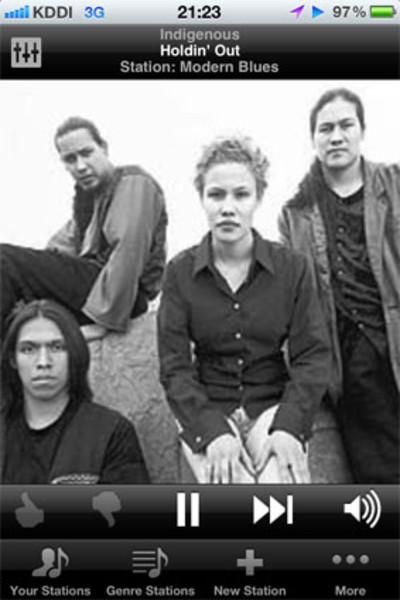 Jangoでたまたま耳にしたIndigenousというバンドがものすごくカッコよかった!