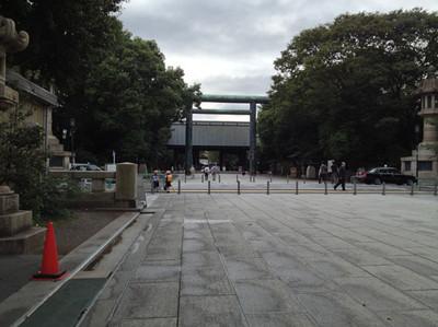 靖国神社へ行って来ました