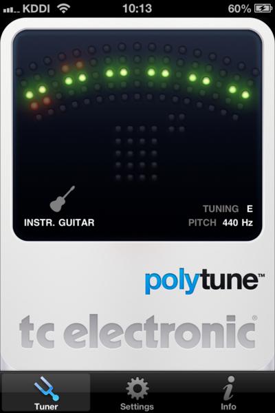 01_ギター用チューナーのアプリが便利> TC Electronic PolyTune