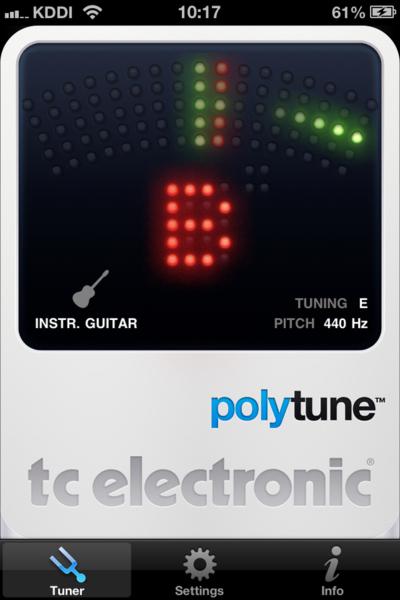 02_ギター用チューナーのアプリが便利> TC Electronic PolyTune