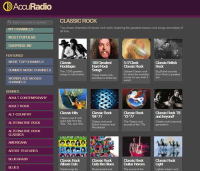 AccuRadioのクラシック・ロックchが最高~~