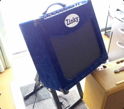 Zinky Blue Velvet 25とアンプスタンド