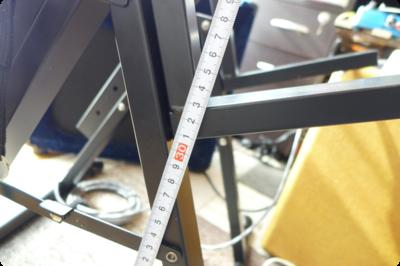 アンプの高さも調整可能