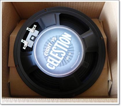 Greco GVA Custom のスピーカーを交換 CELESTION Eight15