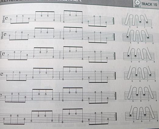 指の独立トレーニング~一生使えるギターの基礎トレ本より~