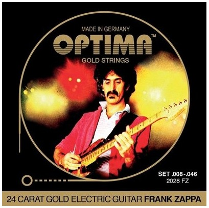 OPTIMA エレキギター弦 24K GOLD STRINGS FRANK ZAPPA (.008-.046) 2028 FZ