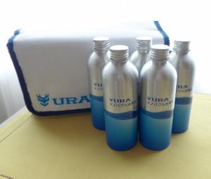 高濃度水素水の保存に URAナノバブル水素水 アルミボトルセット