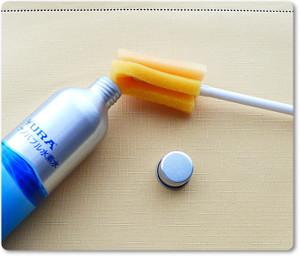 ペットボトル用の洗浄スポンジ