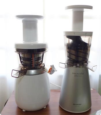 ヒューロム スロージューサーH15とシャープ ヘルシオ ジュースプレッソの比較