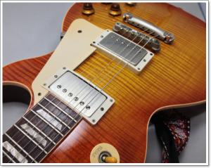 Gibson LesPaul Reissue '88年製のリフィッシュ作業前/作業後の写真