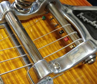 ビグスビーにはブレットエンドの弦は張れません