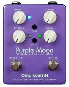 ファズとバイブが1つになったジミ・ヘンドリックスライクなペダル CARL MARTIN Purple Moon
