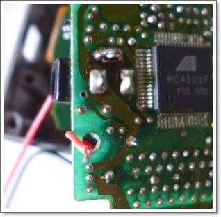 エフェクターの電池スナップを交換