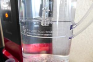 ルルドで作れる水素水の最大容量は1.8Lです。では最小の容量は?