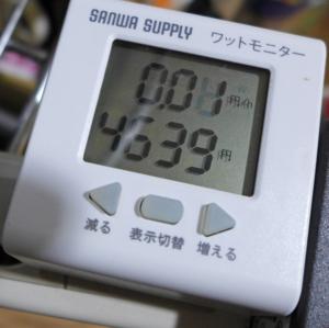 ルルドの電気代は追い炊き中で0.01円/h