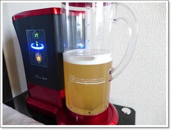 お茶に水素水を添加してみた